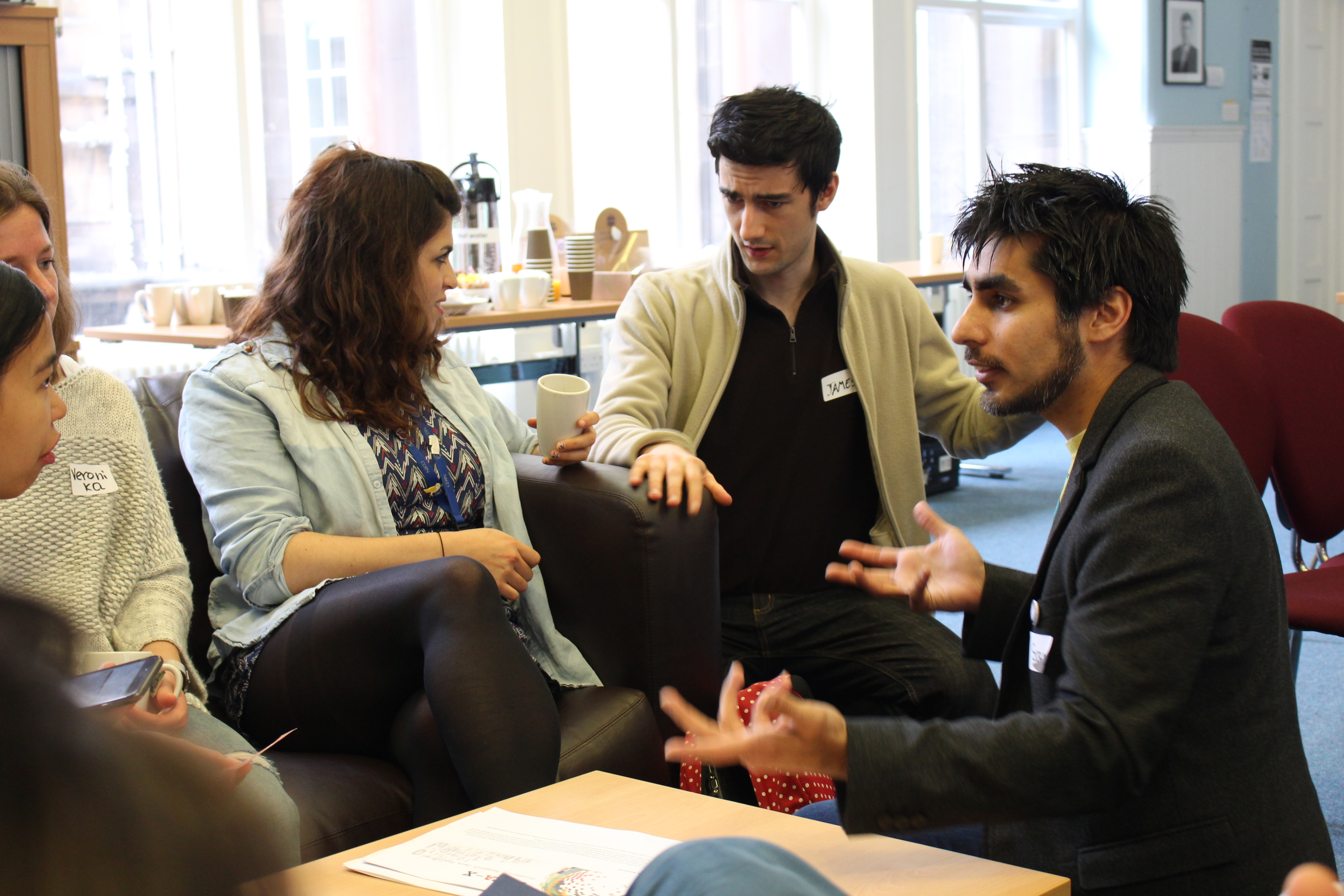 Participants in discussion at the workshop